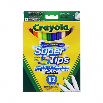 Crayola Supertips 12 Pack Washable Markers